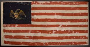 Prior To Conservation The Flag Was In Very Fragile Condition And Could Not Be Unfolded Studied Or Displayed Without Causing