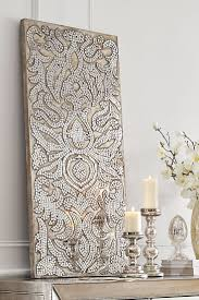 Champagne Mirrored Mosaic Damask Panel Pier One BedroomWall Art
