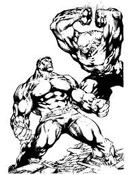 Incredible Hulk Fighting Coloring Page