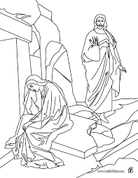 Resurrection Of Jesus Christ Coloring Page