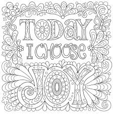 Today I Choose Joy Free Coloring Page
