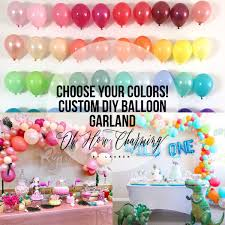 Custom DIY Balloon Garland Kit Choose Your Colors Oh How Charming