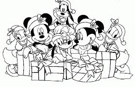 Coloring Pages Disney Characters Christmas For