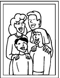 Family Coloring Pages 4