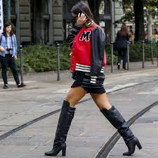 how to wear over the knee boots popsugar fashion