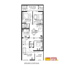 House Plan For 24 Feet By 60 Feet Plot Plot Size160 Square