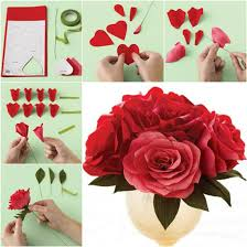 Paper Rose Flower Craft