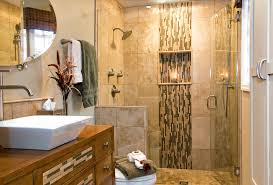 shower accent tile bathroom tropical with contemporary bath etched