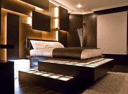 brown bedroom walls light brown leather padded stool black