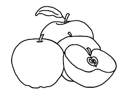 Apple Coloring Pages Pictures Of Apples To Color Fresh Easily Colouring Page Free Printable