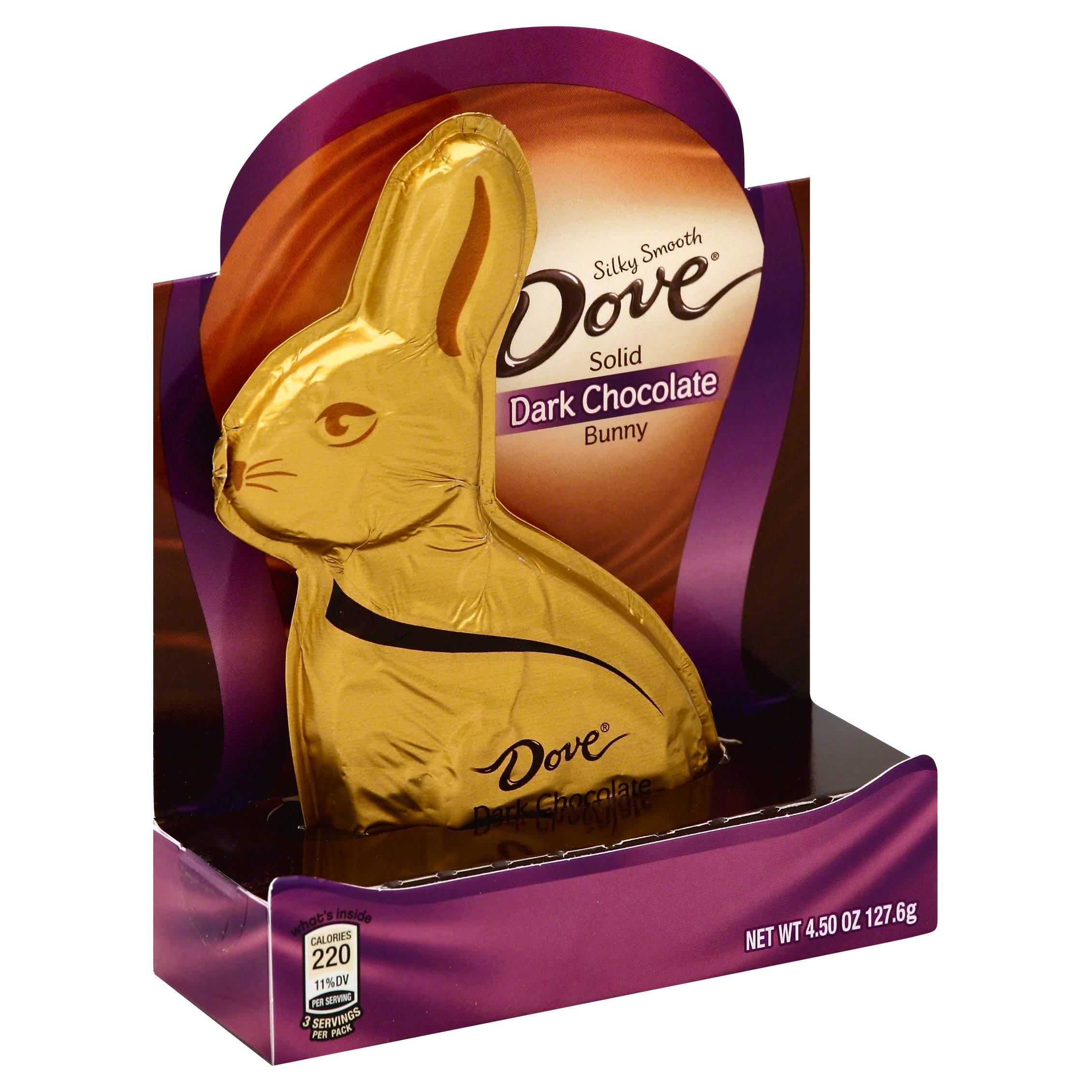 Dove Chocolate Dove Solid Dark Chocolate Bunny - 4.5 Oz