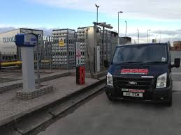 Ford Transit Diesel LPG CNG Dual Fuel Vehicle Filling At Services Crewe