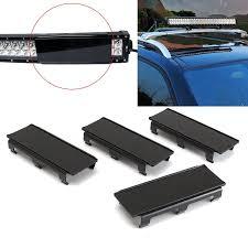 4x8 zoll schwarz curved gerade led lichtleiste len abdeckung für lkw offroad 32