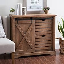 Barn Door 2 Drawer Cabinet
