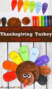 Learn And Color Thanksgiving Turkey Craft Free Template For Kids Printable Comes In