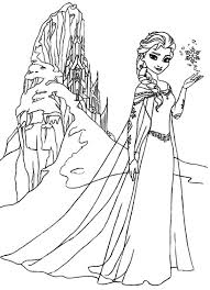 Queen Elsa Amazing Ice Castle Coloring Pages