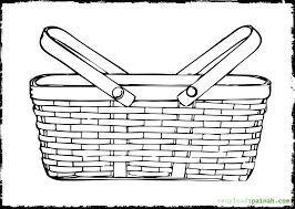 Printable Coloring Pages Of Fruit Baskets The Best Basket In