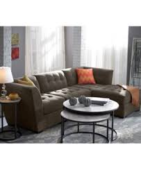 Macys Elliot Sofa by Roxanne Fabric 3 Piece Modular Sectional Sofa Corner Armless