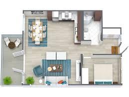 2 Bedroom Home Plans Colors 3d Floor Plans Roomsketcher