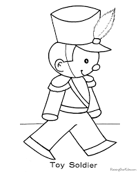 Toy Soldier Christmas Coloring Page