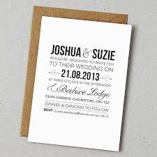 Chic Basic Wedding Invitations Rustic Style Invitation Wording And