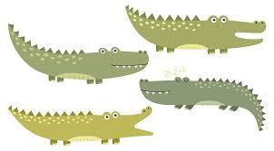 wandtattoo afrika krokodile als familie wandsticker
