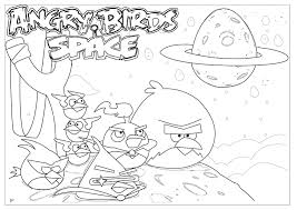 Angry Birds Space Coloring Pages 1