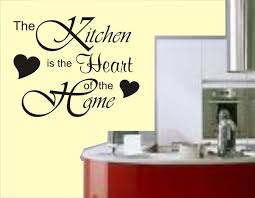 Kitchen Quote For Behind A Clear Glass Splashback