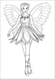 Mariposa Barbie Coloring Pages