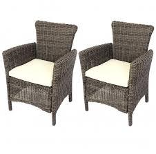 chaises en osier fauteuils lot de 2 luxe poly rotin aluminium jardin chaise chaises