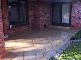 exteriors concrete patio floor covering 6pc interlocking outdoor