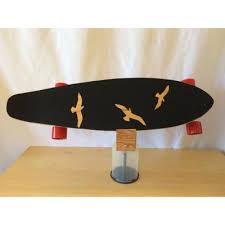 blank 36 kicktail longboard birds griptape complete