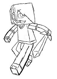 Coloring Download Minecraft Skin Pages Deadlox Sketch C Doodle Derp On Deviantart Free
