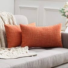 miulee 2er pack leinenoptik home dekorative kissenbezug kissenhülle kissenbezug für sofa schlafzimmer mit