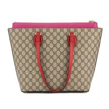 trousse de toilette gucci gucci hibiscus and pink leather medium gg supreme tote bag