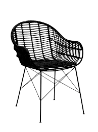 chaise en rotin but chaise rotin papaya noir