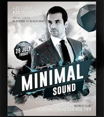 Minimal Sound Free Poster PSD Template