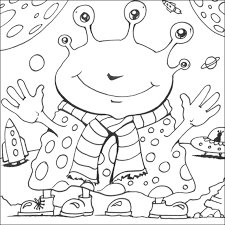 Free Printable Space Aliens Coloring Pages For Kids A Variety Themes That You Can Print Out And Color