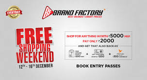 Official Ticketing Partner | Brand Factory Free Shopping Weekend ...