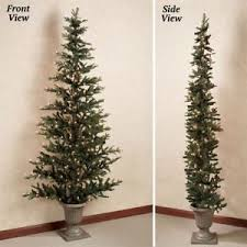 Lighted Pre Lit Spruce Flat Back Half Christmas Tree In Urn Holiday Decor