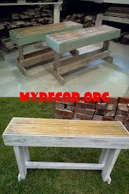 Best 25 Outdoor wooden benches ideas on Pinterest