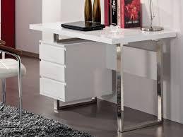 vente unique bureau bureau mylan avec rangements 3 tiroirs coloris blanc