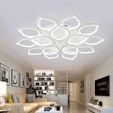 moderne blume acryl led deckenleuchte le wohnzimmer