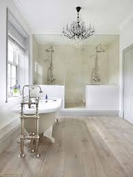 Modern Chandelier Over Bathtub by Britain U0027s Most Coveted Interiors Are Revealed Daily Mail Online