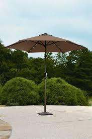 Solar Lighted Rectangular Patio Umbrella by Garden Oasis 9 U0027 Solar Lighted Umbrella