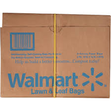 Christmas Tree Trash Bags Walmart by Paper Lawn Bag 5ct Walmart Com