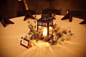 Winter Rustic Theme Wedding Centerpiece