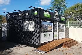 bureau de vente immobilier ecopub habillage espace de vente bureau et bulle de vente
