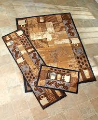 Coffee Decorations For Kitchen Decor Walmart Bean Patterned Runner Rug