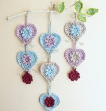 Crocheted Heart Wall Hanging